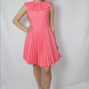 Tara Jamon pink collar fan dress